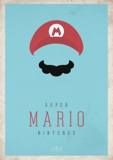 Foto Placa Decorativa Vintage Games 45x30 - Mario - 07