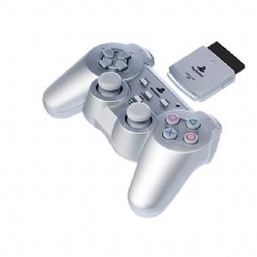 Foto Controle Dual Shock 2 Sem Fio Prata Sony - ORIGINAL (Seminovo)