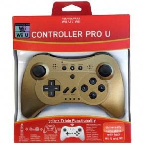 Foto Pro Controller U para Wii and Wii U - Gold (Seminovo)