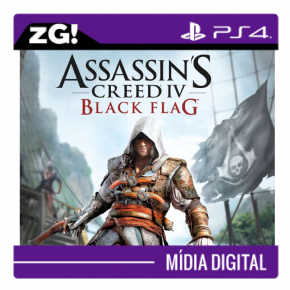 Foto Assassins Creed Black Flag MIDIA DIGITAL PS4