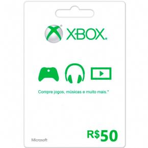 Cartão R$ 50,00 Microsoft...