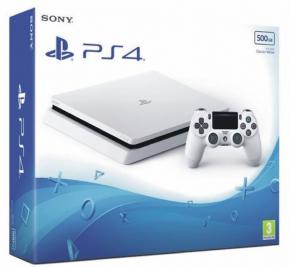 Foto Sony Playstation 4 Slim Branco + 3 Anos de Garantia ZG! PROMOÇÃO ULTIMAS UNIDADES - SEM ESTOQUE NÃO CHEGA MAIS