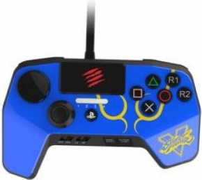 Foto Controle FightPad Street Fighter V Mad Catz PS4 / PS3 - Azul