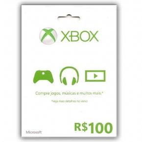 Cartão R$ 100,00 Microsof...