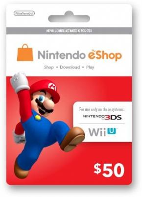 Cartão 50 U$ eShop