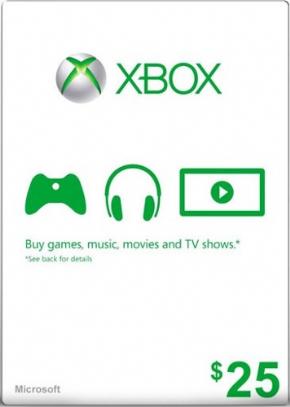 Cartão 25 Dólar Microsoft...