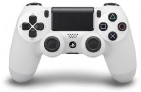 Foto Controle Sony Playstation 4 - Dual Shock 4 - Branco (Seminovo)