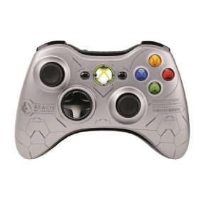 Foto Controle XBOX 360 Silver Halo Reach Wireless Original (Seminovo)