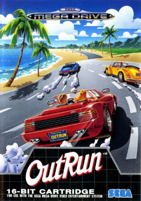Out Run Mega Drive - Seminovo