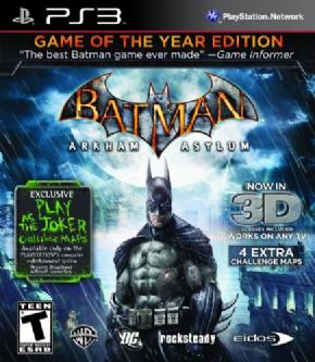 Batman Arkham Asylum PS3...