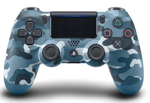 Foto Controle Sony Playstation 4 - Dual Shock 4 - Camouflage Blue - Seminovo