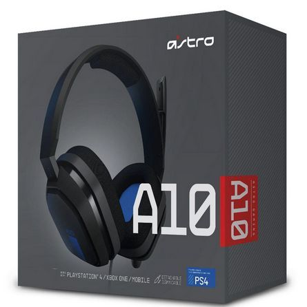 Headset Gamer Astro A10 Black & Blue PS3...