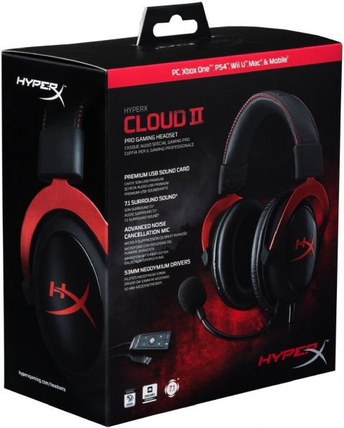 Foto Headset Gamer Hyperx Cloud 2 7.1 Pc Xbox One Ps4 Mac Wiiu