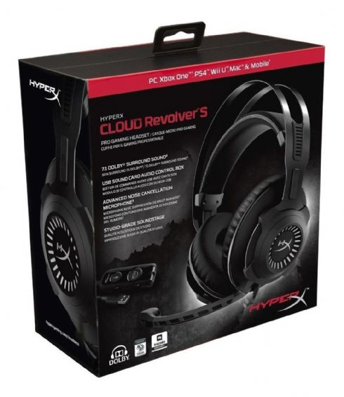 Foto Headset Gamer Hyperx Revolver S Pc Ps4
