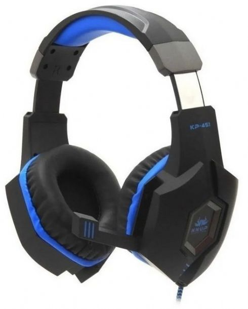 Headset Gamer Knup Kp-451 Black & Blue P...