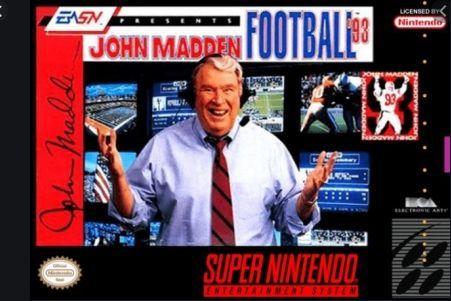 Madden 93 Super Nintendo...