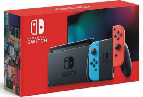 Foto Nintendo Switch Neon Blue and Neon Red Joy-Con + 03 Anos de Garantia ZG!