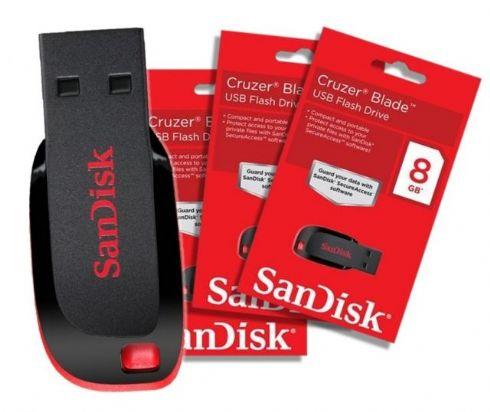 Pen Drive 8GB Sandisk Cru...