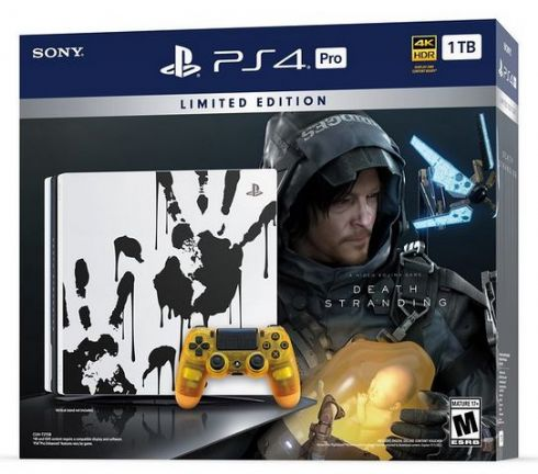 Foto Sony Playstation 4 Limited Edition Death Stranding PS4 PRO Bundle + 03 Anos de Garantia ZG!