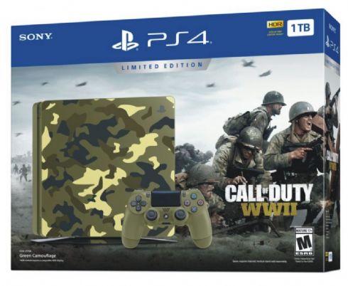 Foto Sony Playstation 4 Slim 1TB Edição Limitada COD WWII + 3 Anos de Garantia