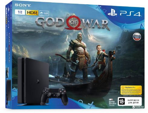 Sony Playstation 4 Slim 1TB + God of War...