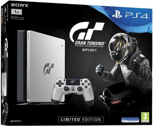 Foto Sony Playstation 4 Slim 1TB Edição Limitada  GT Sport + 3 Anos de Garantia