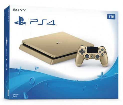 Foto Sony Playstation 4 Slim 1TB Gold - Seminovo