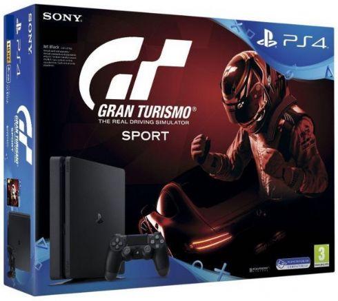 Foto Sony Playstation 4 Slim 1TB + Gran Turismo 7 + 3 Anos de Garantia POUCAS UNIDADES