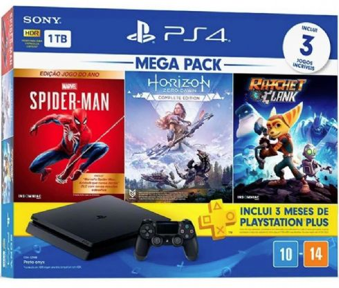 Sony Playstation 4 Slim 1TB Mega Pack 10...