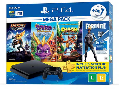 Sony Playstation 4 Slim 1TB Mega Pack 2...