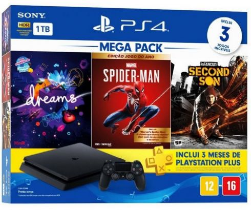 Sony Playstation 4 Slim 1TB Mega Pack 9...