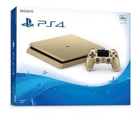Foto Sony Playstation 4 Slim 500GB Gold + 3 Anos de Garantia - SEM ESTOQUE NÃO CHEGA MAIS