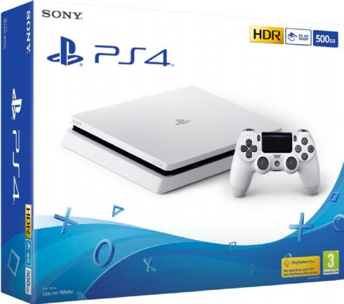 Foto Sony Playstation 4 Slim 500GB White + 3 Anos de Garantia