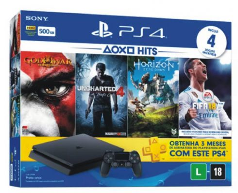 Foto Sony Playstation 4 Slim Bundle HITS 4 + 3 Anos de Garantia ZG! ULTIMAS UNIDADES