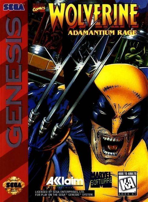 Foto Wolverine Adamantium Rage  Mega Drive - Seminovo