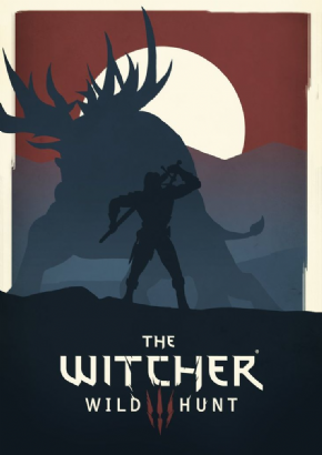 Foto Placa Decorativa Vintage Games 45x30 - The Witcher - 02