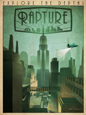 Foto Placa Decorativa Vintage Games 45x30 - Bioshock - 08