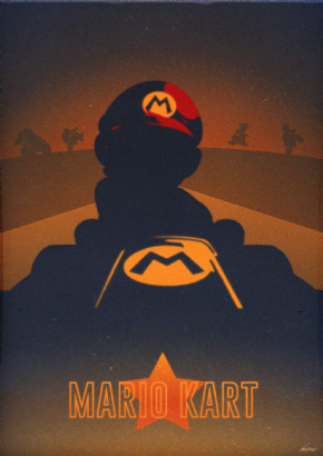 Foto Placa Decorativa Vintage Games 45x30 - Mario - 05
