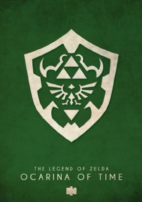 Foto Placa Decorativa Vintage Games 45x30 - Zelda - 02