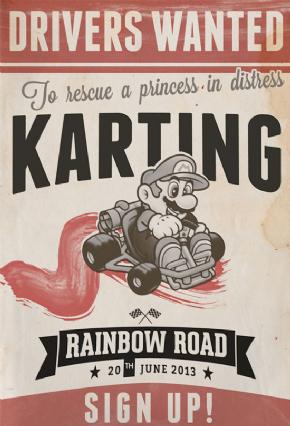 Foto Placa Decorativa Vintage Games 45x30 - Mario - 06