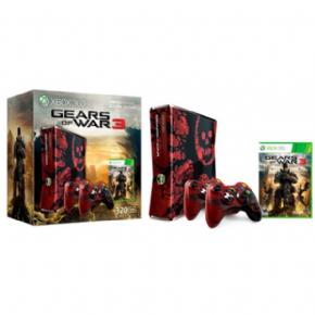 Foto XBOX 360 Slim 320GB Bundle Gears of War LT 3.0 + 3 Anos de Garantia ZG!