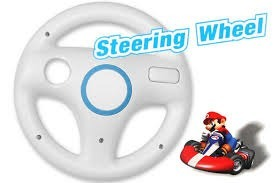 Foto Volante Wii Wheel Original Nintendo (Seminovo)