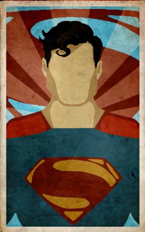 Foto Placa Decorativa Vintage Games 45x30 - Superman - 02