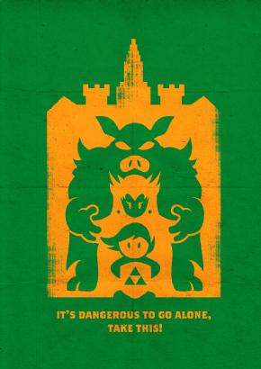 Foto Placa Decorativa Vintage Games 45x30 - Zelda 03