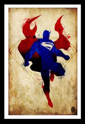 Foto Placa Decorativa Vintage Games 45x30 - SuperMan - 03
