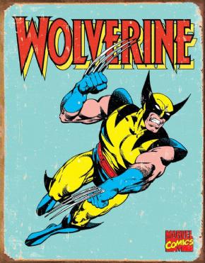 Foto Placa Decorativa Vintage Games 45x30 - Wolverine