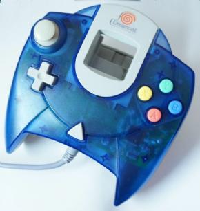 Foto Controle Dreamcast Azul Translucido (Seminovo)