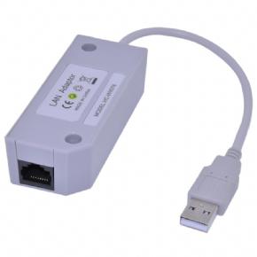 Foto Adaptador Rede Usb Para Nintendo Wii e Wii U Rj45 Cabo Lan
