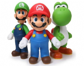 Foto Super Mario Super Size Original Collection - Kit 03 Bonecos