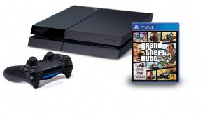 Foto Sony Playstation 4 Bundle GTA V + 3 Anos de Garantia ZG! 1215-A